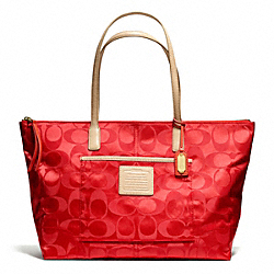 WEEKEND SIGNATURE NYLON EAST/WEST ZIP TOP TOTE - f24862 - 24958