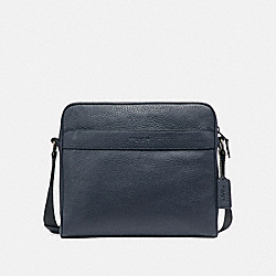 COACH CHARLES CAMERA BAG - MIDNIGHT NAVY/BLACK ANTIQUE NICKEL - F24876