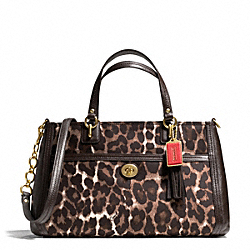 COACH PARK CHAIN OCELOT PRINT CARRYALL - ONE COLOR - F24894