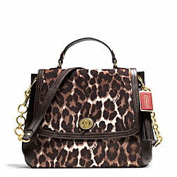 COACH PARK CHAIN OCELOT PRINT FLAP BAG - ONE COLOR - F24895