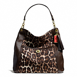 COACH PARK CHAIN OCELOT PRINT HOBO - ONE COLOR - F24896