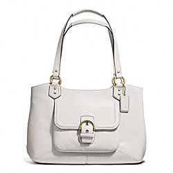 COACH CAMPBELL LEATHER BELLE CARRYALL - BRASS/IVORY - F24961