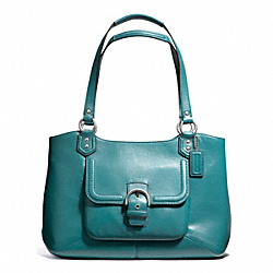 COACH CAMPBELL LEATHER BELLE CARRYALL - SILVER/MINERAL - F24961