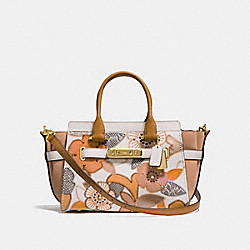 COACH SWAGGER 27 WITH PATCHWORK TEA ROSE AND SNAKESKIN DETAIL - CHALK MULTI/LIGHT GOLD - COACH F24969