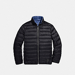REVERSIBLE DOWN JACKET - BLACK - COACH F25004