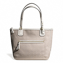 COACH POPPY SIGNATURE C MINI OXFORD SMALL TOTE - BRASS/IVORY MOHAIR - F25051
