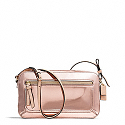 COACH POPPY MIRROR METALLIC FLIGHT BAG - Light Gold/ROSE GOLD - F25056