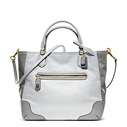 COACH POPPY COLORBLOCK LEATHER SMALL BLAIRE TOTE - LI/LIGHT GREY - F25057