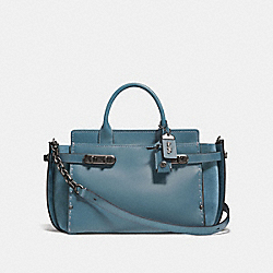 COACH DOUBLE SWAGGER - CHAMBRAY/BLACK COPPER - COACH F25133