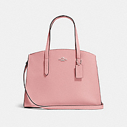 CHARLIE CARRYALL - PEONY/SILVER - COACH F25137