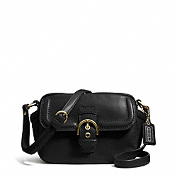 COACH CAMPBELL LEATHER CAMERA BAG - BRASS/BLACK - F25150