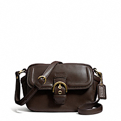 COACH CAMPBELL LEATHER CAMERA BAG - BRASS/MAHOGANY - F25150