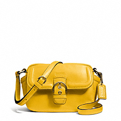 COACH CAMPBELL LEATHER CAMERA BAG - BRASS/SUNFLOWER - F25150