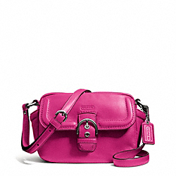 COACH CAMPBELL LEATHER CAMERA BAG - SILVER/FUCHSIA - F25150