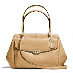 COACH MADISON LEATHER MADELINE EAST/WEST SATCHEL - ONE COLOR - F25166