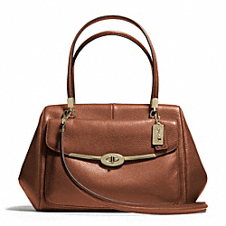 COACH MADISON MADELINE LEATHER EAST/WEST SATCHEL - ONE COLOR - F25166