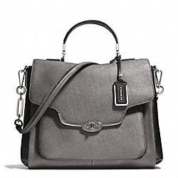COACH MADISON SPECTATOR SAFFIANO SADIE FLAP SATCHEL - ONE COLOR - F25167