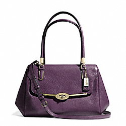 COACH MADISON SMALL LEATHER MADELINE EAST/WEST SATCHEL - LIGHT GOLD/BLACK VIOLET - F25169