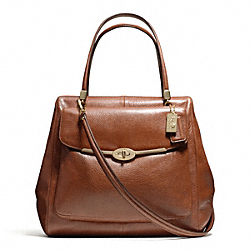 COACH MADISON LEATHER NORTH/SOUTH SATCHEL - ONE COLOR - F25170