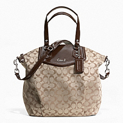 COACH ASHLEY SIGNATURE NORTH/SOUTH SATCHEL - ONE COLOR - F25185