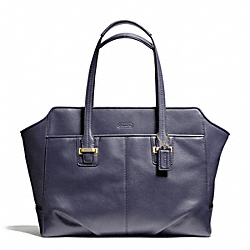COACH TAYLOR LEATHER ALEXIS CARRYALL - BRASS/MIDNIGHT - F25205