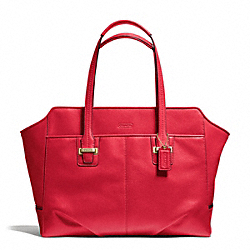 COACH TAYLOR LEATHER ALEXIS CARRYALL - BRASS/CORAL RED - F25205