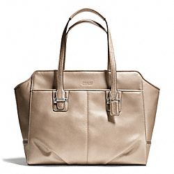 COACH TAYLOR LEATHER ALEXIS CARRYALL - SILVER/CHAMPAGNE - F25205