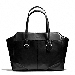 COACH TAYLOR LEATHER ALEXIS CARRYALL - SILVER/BLACK - F25205