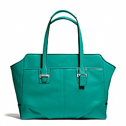 COACH TAYLOR LEATHER ALEXIS CARRYALL - SILVER/EMERALD - F25205