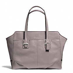 COACH TAYLOR LEATHER ALEXIS CARRYALL - SILVER/PUTTY - F25205