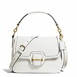 COACH TAYLOR LEATHER FLAP CROSSBODY - BRASS/IVORY - F25206