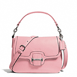 COACH TAYLOR LEATHER FLAP CROSSBODY - SILVER/PINK TULLE - F25206