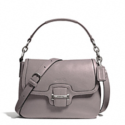 COACH TAYLOR LEATHER FLAP CROSSBODY - SILVER/PUTTY - F25206
