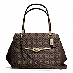COACH MADISON MADELINE EAST/WEST SATCHEL IN OP ART NEEDLEPOINT FABRIC - ONE COLOR - F25212