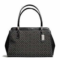 COACH MADISON OP ART NEEDLEPOINT KIMBERLY CARRYALL - SILVER/BLACK - F25213