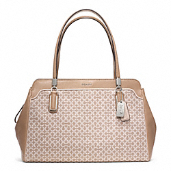COACH MADISON OP ART NEEDLEPOINT KIMBERLY CARRYALL - ONE COLOR - F25213