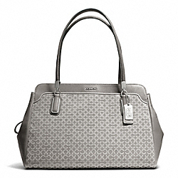 COACH MADISON OP ART NEEDLEPOINT KIMBERLY CARRYALL - SILVER/LIGHT GREY - F25213