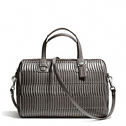 COACH TAYLOR GATHERED LEATHER SATCHEL - SILVER/GREY - F25250