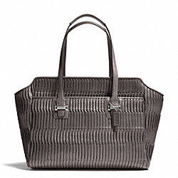 COACH TAYLOR GATHERED LEATHER ALEXIS CARRYALL - SILVER/GREY - F25252