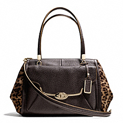 COACH MADISON MIXED HAIRCALF MADELINE EAST/WEST SATCHEL - ONE COLOR - F25255