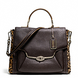 COACH MADISON MIXED HAIRCALF SADIE FLAP SATCHEL - ONE COLOR - F25256