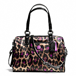 COACH SIGNATURE STRIPE OCELOT PRINT SATCHEL - ONE COLOR - F25283