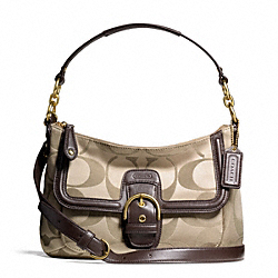 COACH CAMPBELL SIGNATURE SMALL CONVERTIBLE HOBO - ONE COLOR - F25289