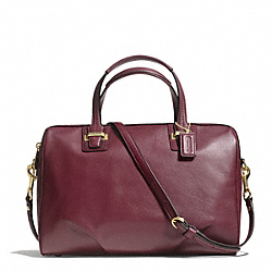 COACH TAYLOR LEATHER SATCHEL - BRASS/BORDEAUX - F25296