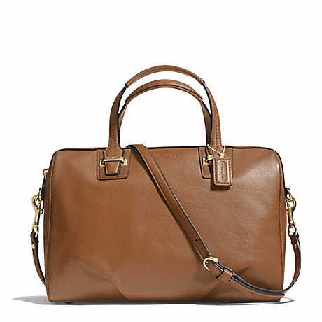 COACH f25296 TAYLOR LEATHER SATCHEL BRASS/SADDLE