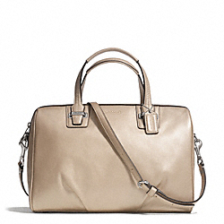COACH TAYLOR LEATHER SATCHEL - SILVER/CHAMPAGNE - F25296