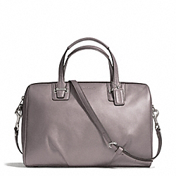 COACH TAYLOR LEATHER SATCHEL - SILVER/PUTTY - F25296