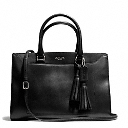 PINNACLE LEIGHTON FRAME CARRYALL IN POLISHED LEATHER - f25320 - 29711