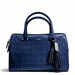 COACH EMBOSSED CROC HALEY SATCHEL - ONE COLOR - F25324