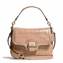 COACH TAYLOR EXOTIC LEATHER FLAP CROSSBODY - ONE COLOR - F25331